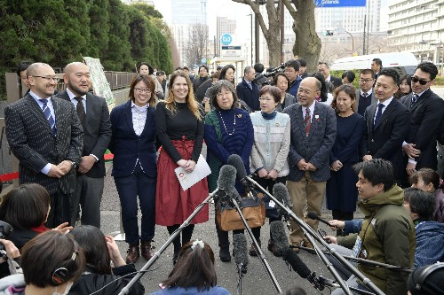 The Latest: Gay couples sue for marital rights in Japan
