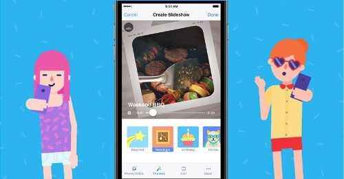 Facebook rolls out Slideshow movie-maker to compete with Google and Apple