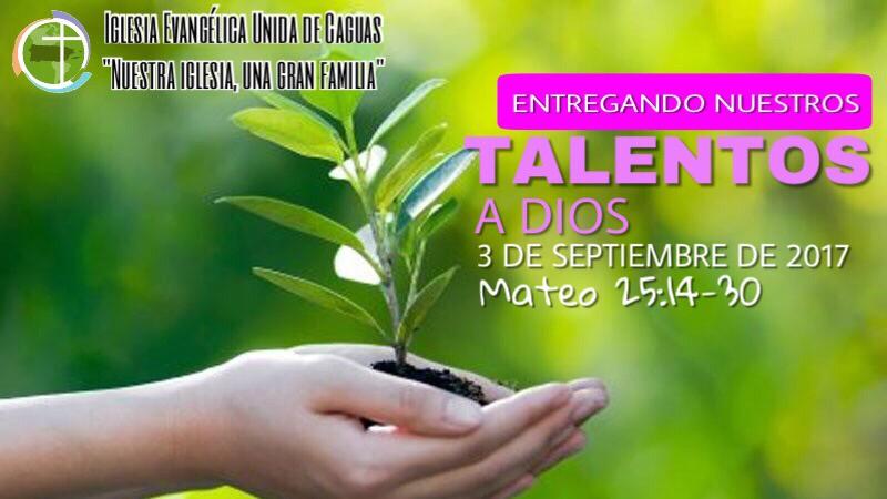 Hoy estaremos predicando sobre Entregando nuestros talentos a Dios. Te esperamos #nuestraiglesiaunagranfamilia