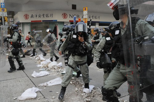 In Hong Kong, all trust gone between police and protesters