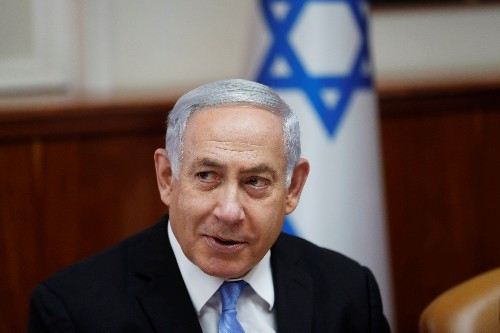 """Israel's Netanyahu urges support for U.S. against Iran's """"aggression"""""""