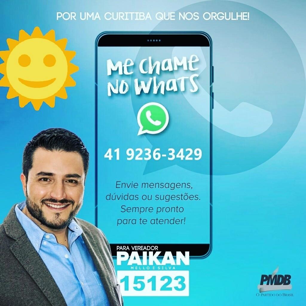Meu candidato a Vereador Paikan Mello e Silva