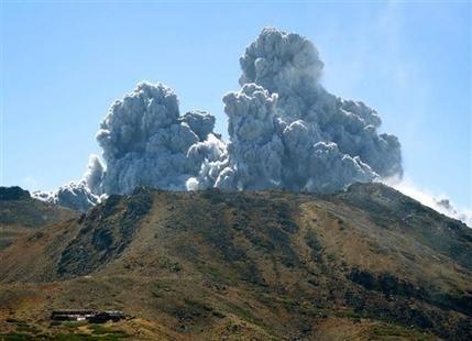Volcano erupts in Japan; 7 missing, 40 injured
