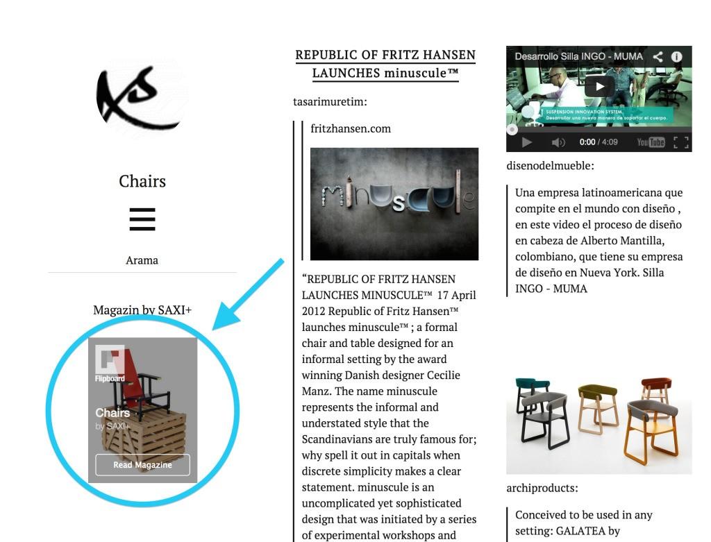 Website - Magazine cover