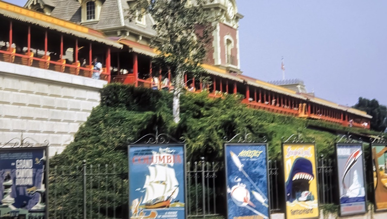Daily Vintage Disneyland: Disneyland entrance with attraction posters from 1959 #disney #disneyland #attractionposters