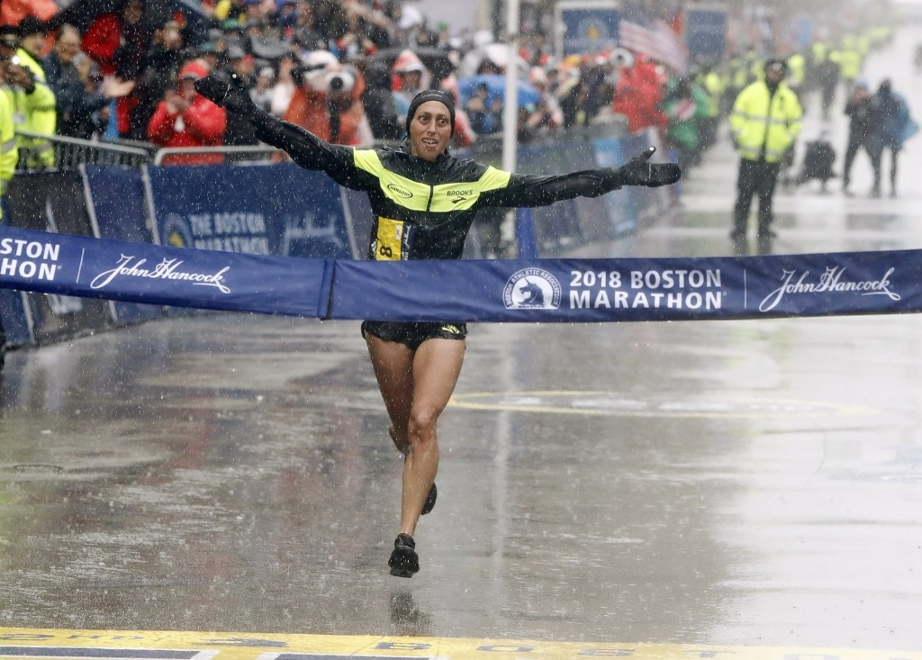 Wet and Windy Boston Marathon in Pictures