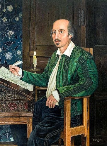 New portrait of William Shakespeare as 'flesh and blood' man you might see down the pub