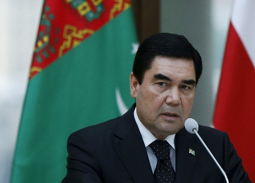 Turkmenistan's leader appears at Hell's Gate to dispel rumors of own death
