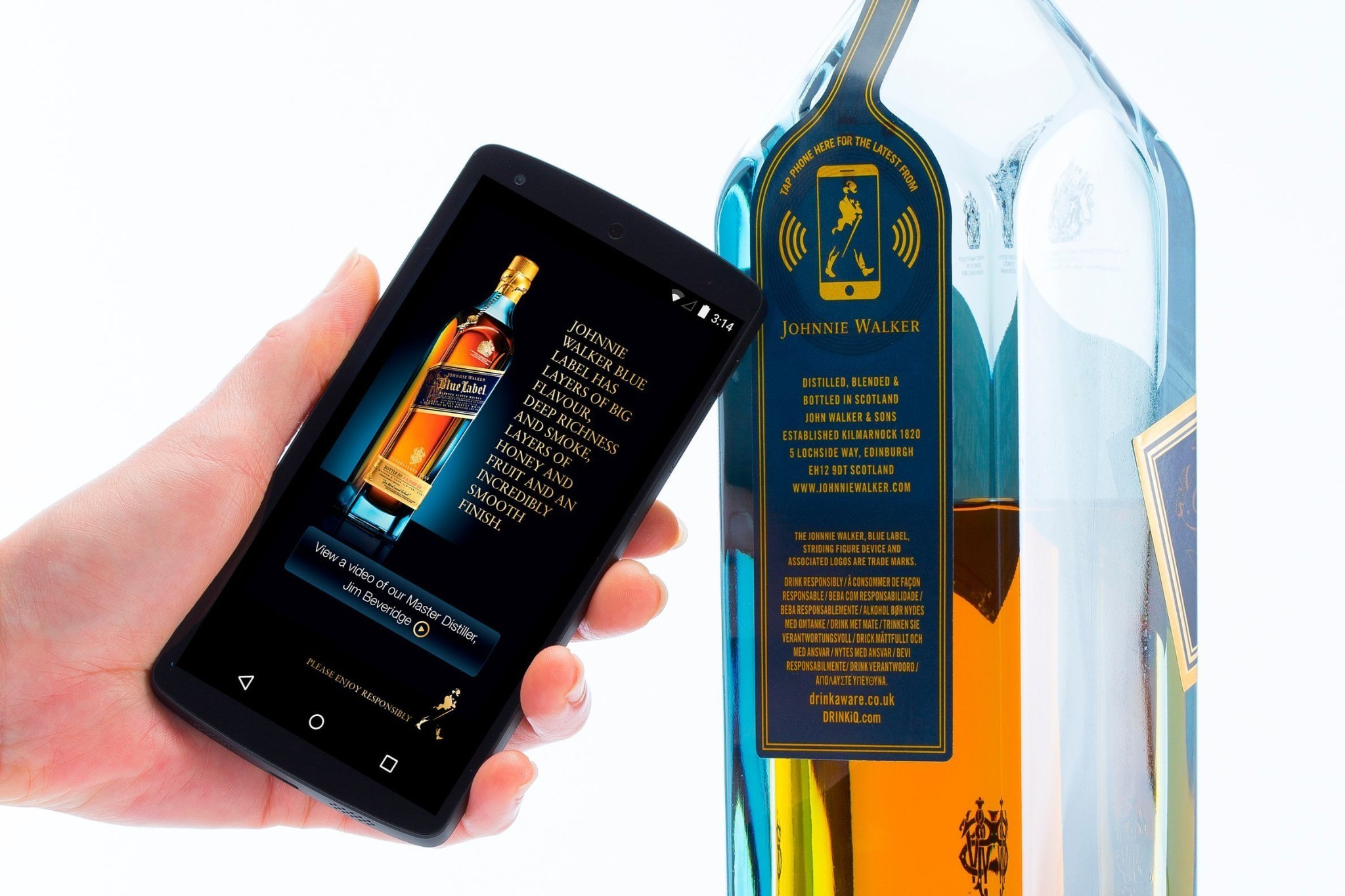 Behold, the NFC-enabled smart whisky bottle