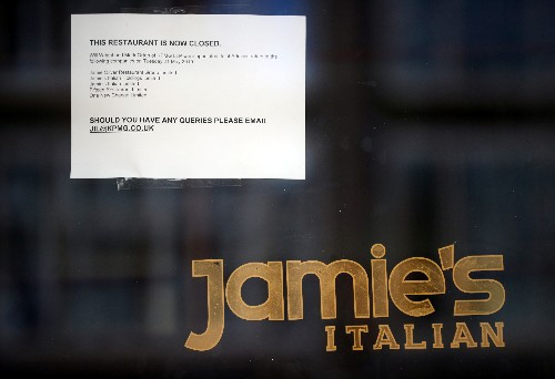 Chef Jamie Oliver's UK restaurant chain goes into administration