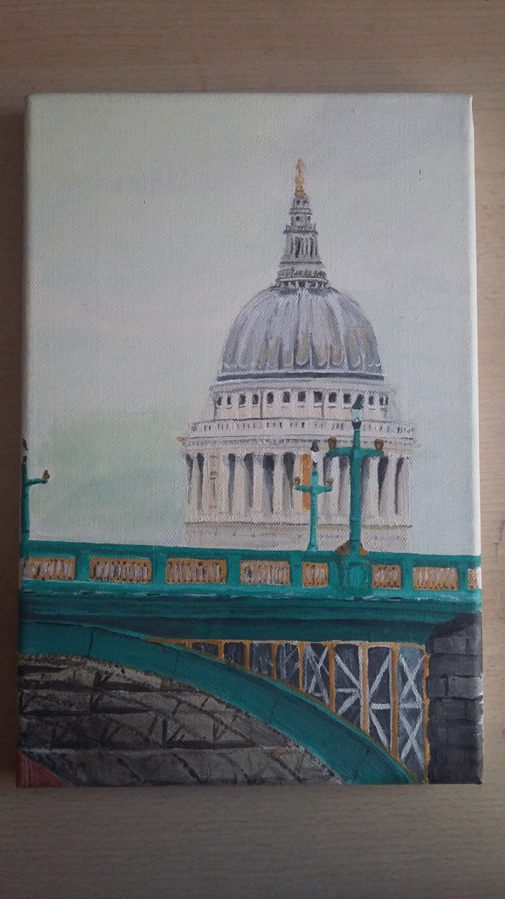 St Pauls - from a photo I took. Acrylics.