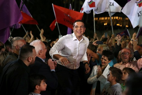 Greek PM says EU poll is also vote of confidence in his policies