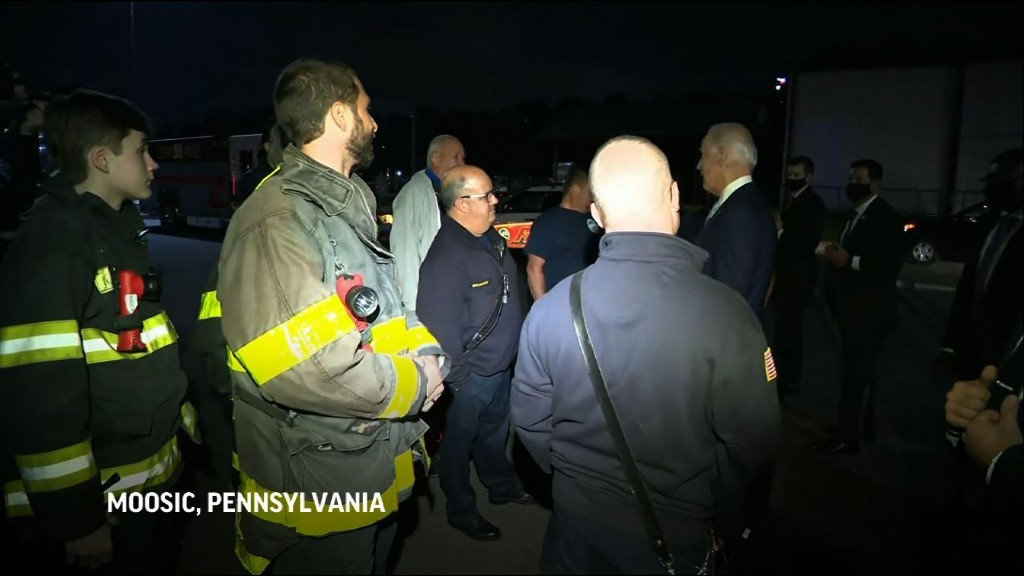 Biden tells firefighters about 1972 family tragedy