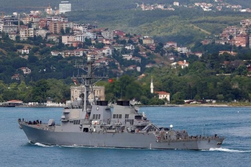 U.S. says it will stay in Black Sea despite Russian warning