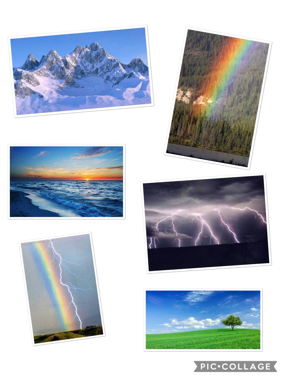 Task 3: what is God like? God is very understanding and kind he also is very loving and caring he loves us and everything he creates. A visual representation of god through nature: I chose these pictures because they show beauty with the mountains it shows gods mighty ness. The rainbow represent Gods beauty and kindness the lighting strikes represents gods power. And the beach represents gods calmness.