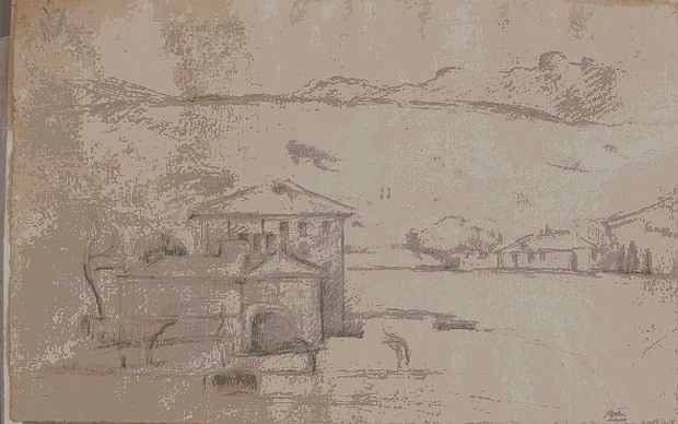 Two unfinished Cézanne sketches discovered on backs on paintings