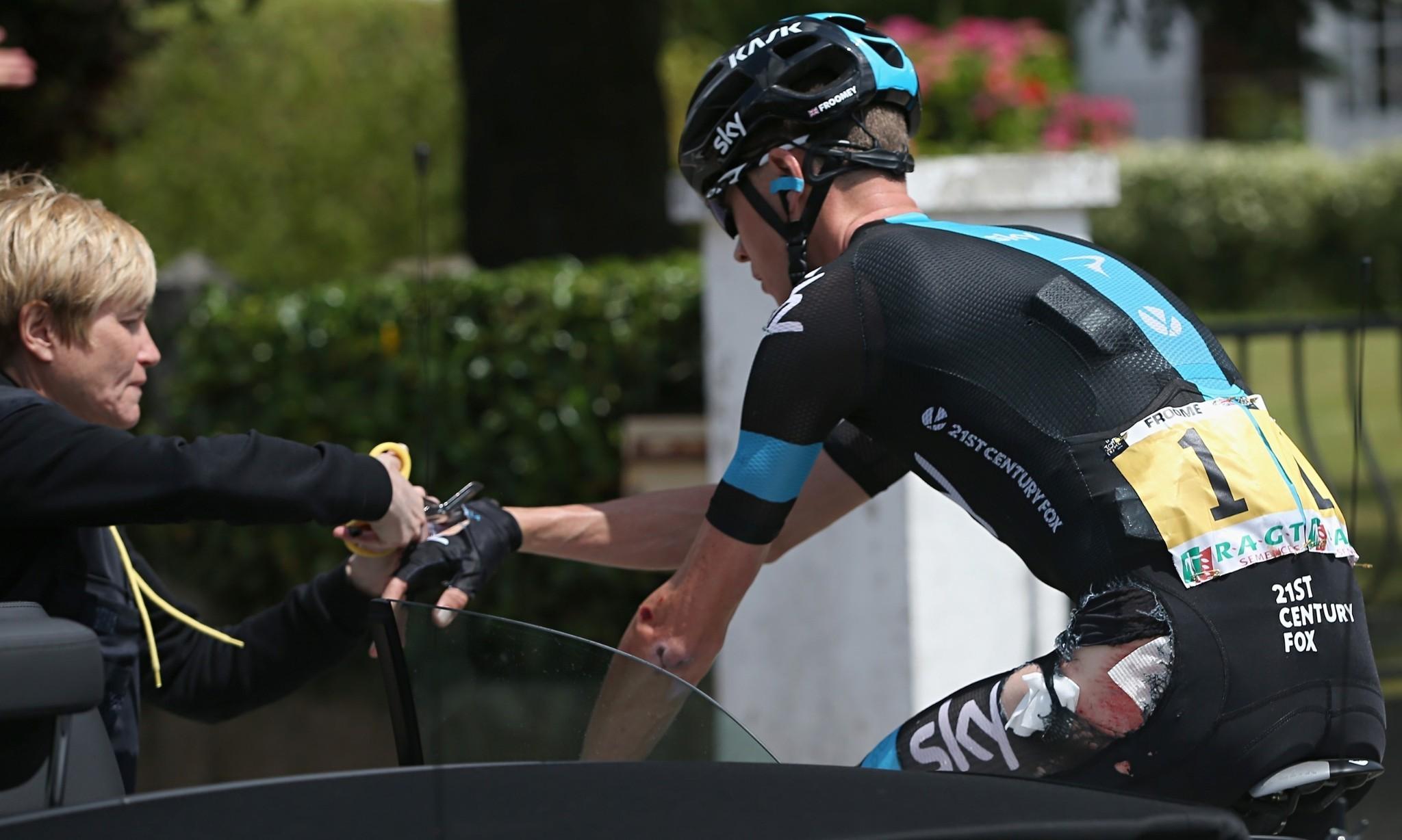Chris Froome fit to continue Tour de France despite stage-four crash