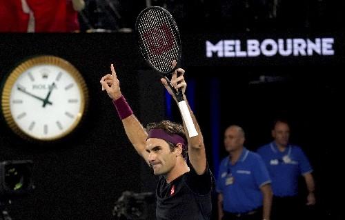 Federer tops Australia's Millman in 5 sets at Melbourne Park