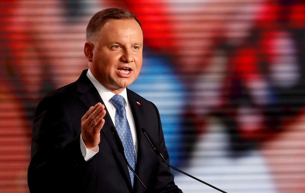 Ahead of run-off vote, Polish president proposes constitutional ban on LGBT adoption