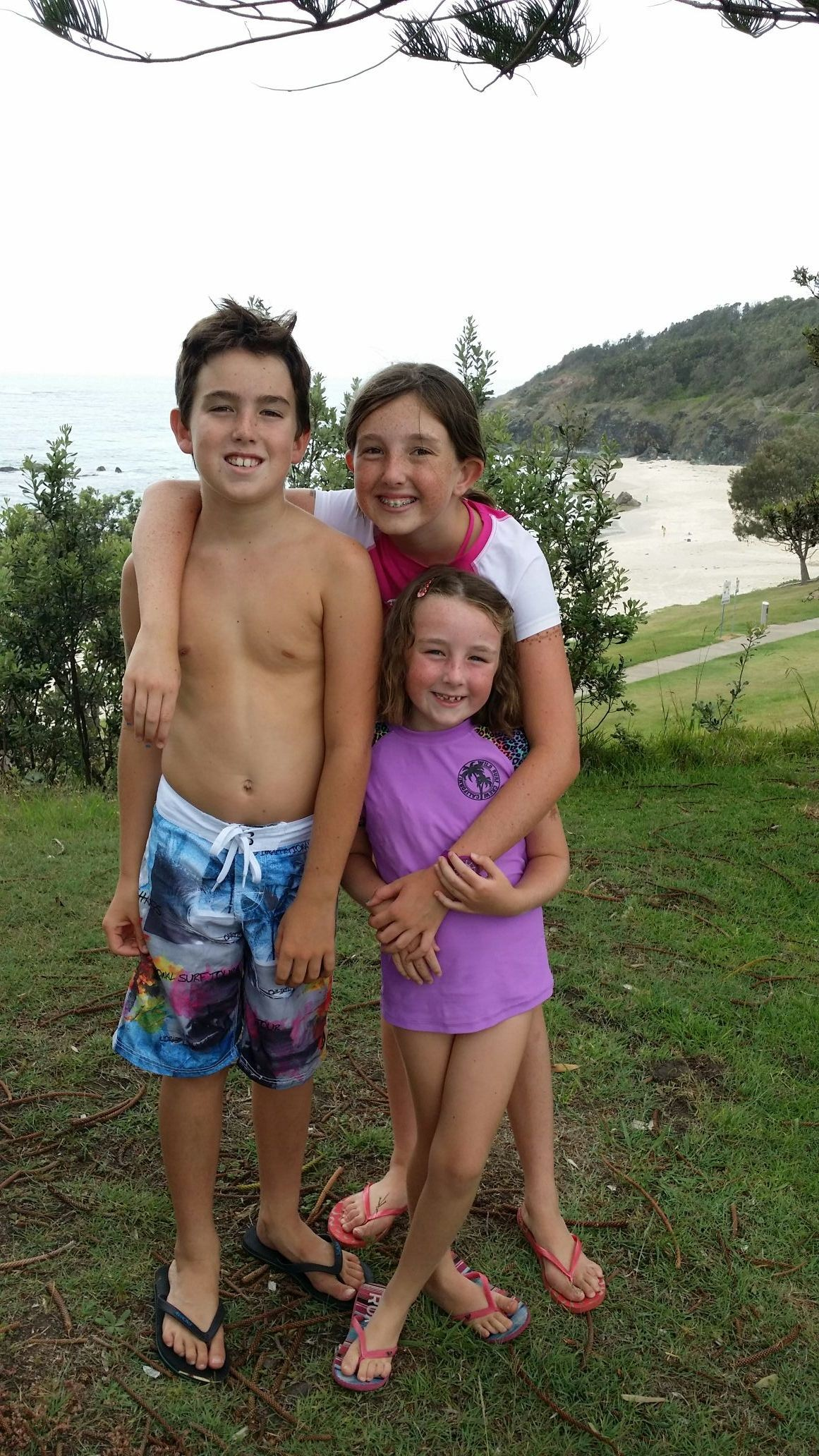 And a swim down oxley beach b 4 we go home 2 eat..merry xmas :)