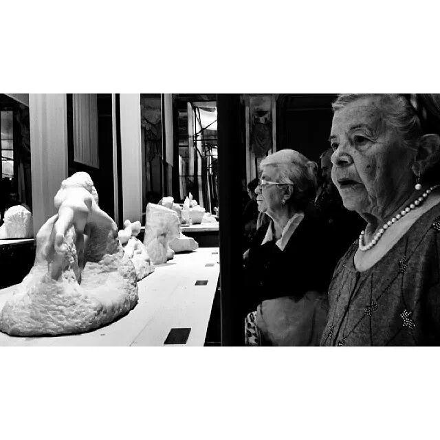 Foto scattata in occasione della mostra sul maestro parigino del marmo Rodin. Palazzo Reale Milano