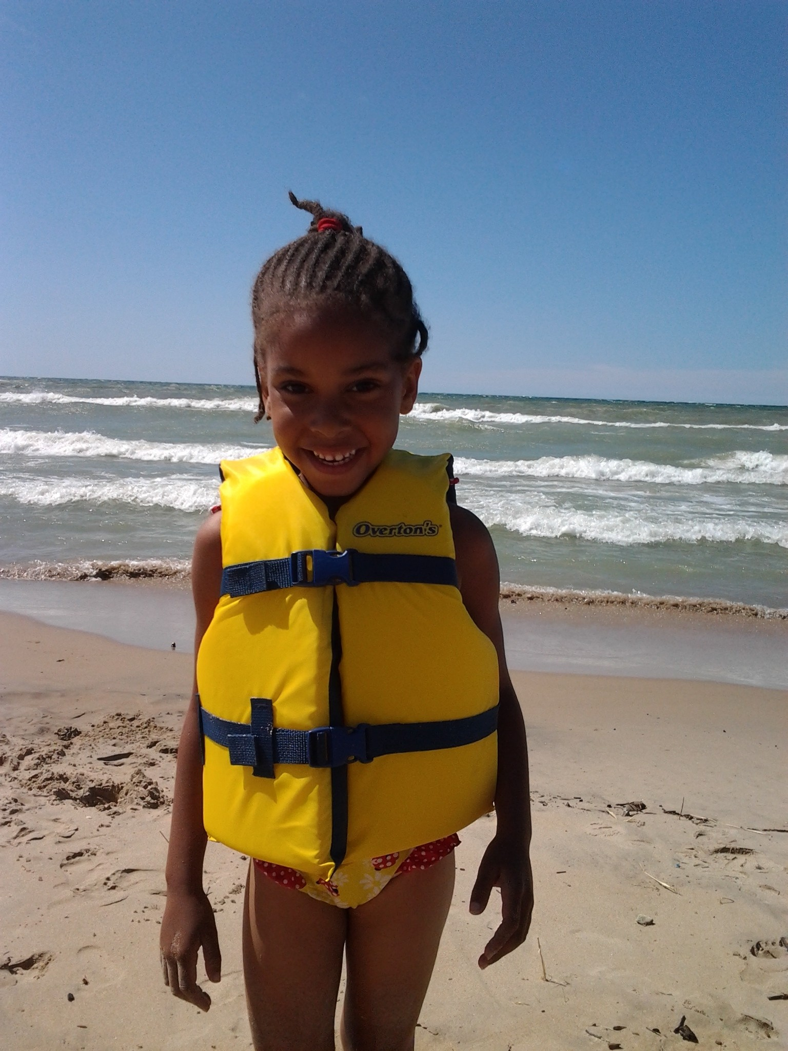 My girll at the beach