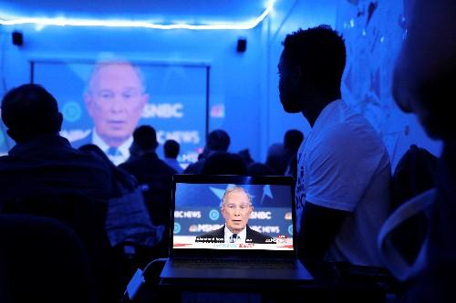 Bloomberg bei seiner ersten TV-Debatte der US-Vorwahlen unter Druck