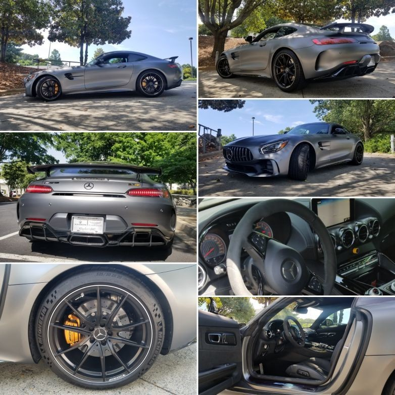 """#MercedesBenz for Sale at #ForeignCarsCharlotte #BentleyCharlotte #AstonMartinCharlotte The No.1 of 3 special AMG GT we have for sale. This 2018 Mercedes Benz AMG GT R features an AIRPANEL active air management system. Vertical louvers in the bottom of the front bumper can be opened and closed by an electric motor in around one second to guarantee the required amount of cooling. Constantly achieving the ideal position calls for highly intelligent and fast control.During normal driving situations with no increased cooling demand, the louvers are closed for reduced drag and the air is directed at the underbody, which improves the aerodynamic efficiency of the vehicle. Only when certain components reach predefined temperatures and the air demand is particularly high do the louvers open to allow the maximum cooling air flow to the heat exchangers. The Pinnacle of the AMG GT lineup is the AMG GT R, which boasts 577 hp and 5116 lb-ft of torque. Some of the options consist of : Ours comes with 510 miles featuring a designo Selenite Grey Magno on Black Napa/Dinamica, AMG Carbon Fiber Trim & Mate finish, B07 AMG CARBON CERAMIC BRAKE SYSTEM C52 INDOOR CAR COVER RXB 19""""/20"""" AMG 10 SPOKE FORGED WHEEL BLACK U25 AMG ILLUMINATED DOOR SILL PANEL 239 DISTRONIC PLUS 5UB CROSSBAR - CARBON FIBER - MATTE 735 EXCLUSIVE INTERIOR TRIM 810 BURMESTER SURROUND SOUND SYSTEM B28 AMG EXTERIOR CARBON FIBER PACKAGE II 317 CONVENIENCE PACKAGE 318 EXCLUSIVE INTERIOR PACKAGE ORIGINAL MSRP WAS $190,960.00 call or email Cyrus@ForeignCarsCharlotte.com • Mobile 702.286.3248 #mercedesbenz #cyrus #ForeignCarsforSale #ForeignCarsCyrus #ForeignCarsCharlotte #MercedesBenzAmg #AMGGTR #duPontREGISTRY • we serve the entire #carolina 's • we are located minutes from #SouthendClt #UptownCharlotte #MyersPark #SouthParkCharlotte • we service also • #Charleston #charlestonsc #MTPLEASANT #Wilmington #HiltonHead #kiawahisland #Asheville #Charlotte #Greenville #SouthCarolina #NorthCarolina"""