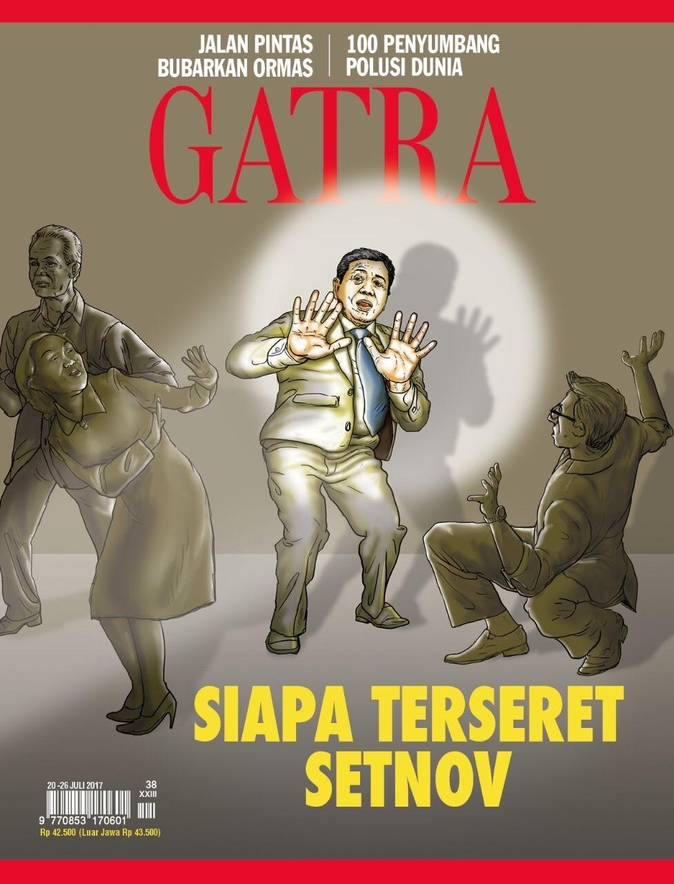Siapa akan terseret Setnov? Majalah GATRA, no 37 tahun XXXIII, beredar Jumat 21 Juli 2017