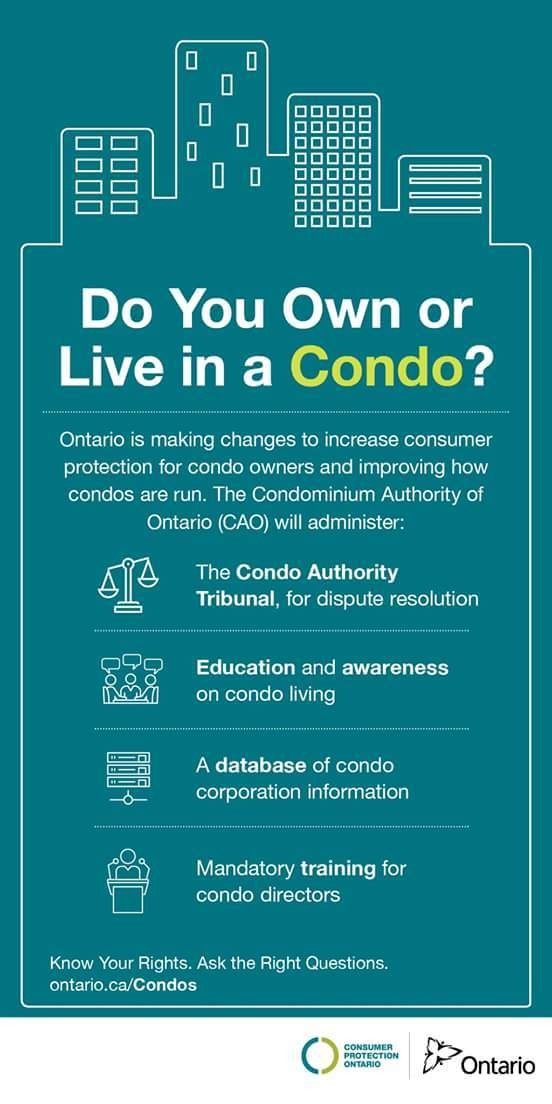 Did you know: The #Condominium Authority of #Ontario will be responsible for administering certain provisions of the #CondoAct?""
