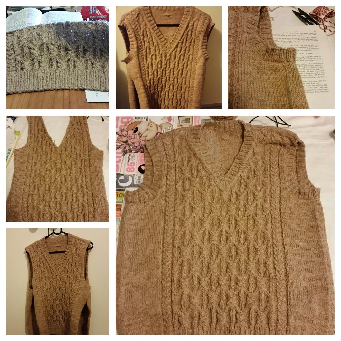 Cabled vest - part one
