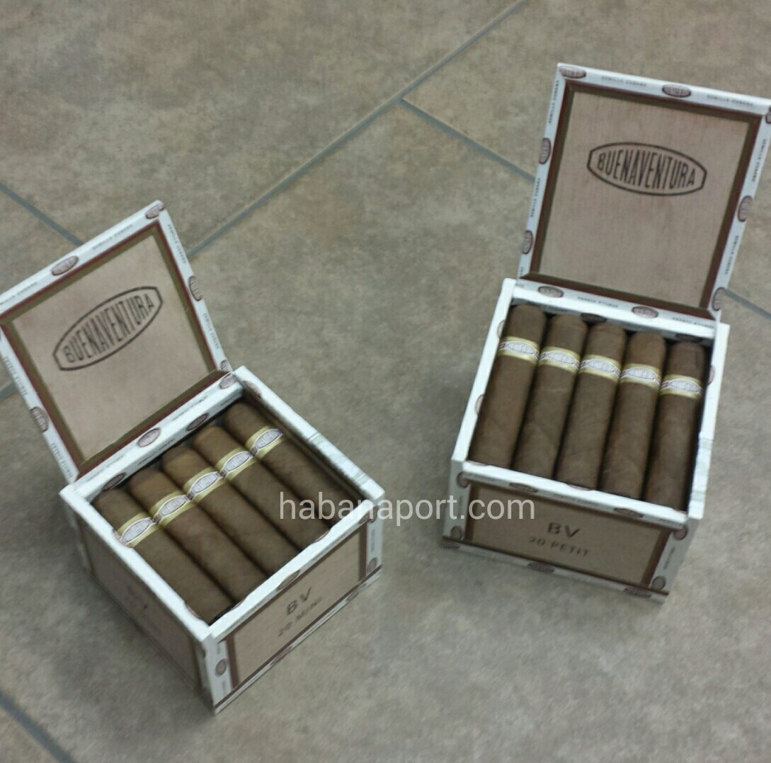 Buenaventura cigars are now offered in small formats like the Mini (3.5x50) and the Petit (4.25x54) and packaged 20 to a box. www.habanaport.com