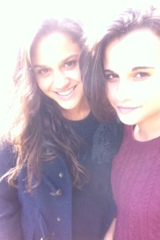 With my best friend cesca