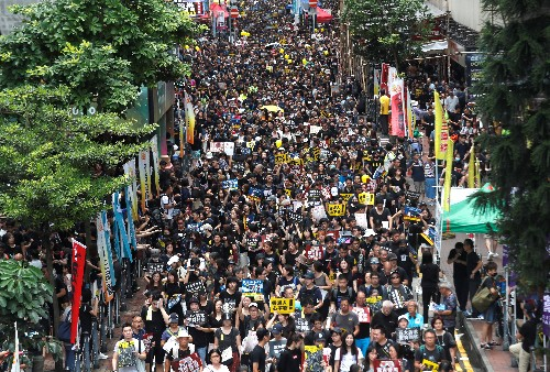 Hong Kong braces for mass anti-government rally