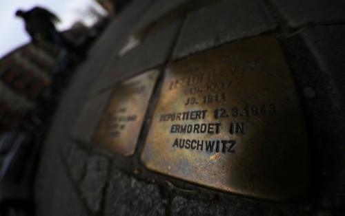 Cobblestones commemorating murdered Jews turn a new corner