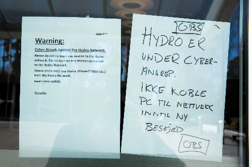 Norsk Hydro has paid no ransom to cyber hackers: CFO