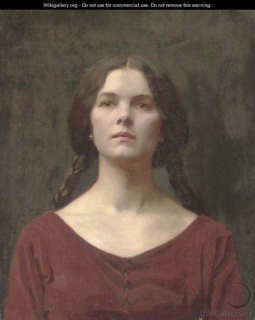 Thomas Cooper Gotch - A Young Beauty