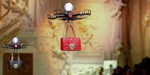 Dolce & Gabbana is using drones to model its handbags at Milan Fashion Week