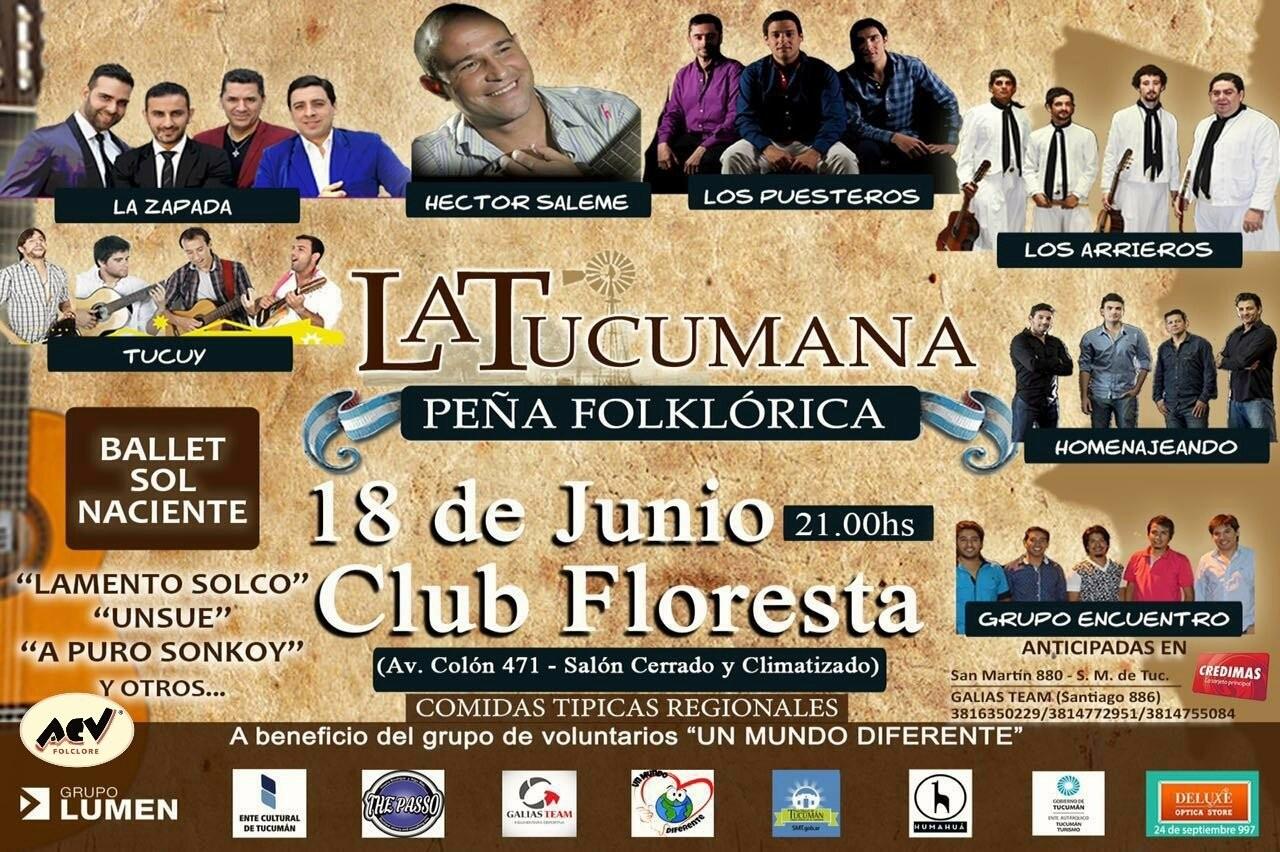 Continúa en sorteo para que vayas a La Tucumana. INGRESA EN www.acvfolclore.com.ar