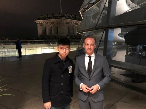 China envoy raps Germany over meeting with Hong Kong activist