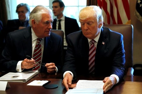 Tillerson says he and Trump disagree over Iran nuclear deal