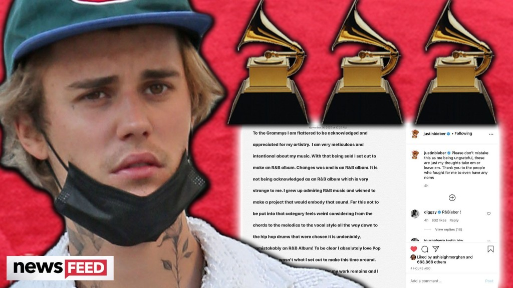 WHY Justin Bieber Is UPSET About His Grammy Nomination!