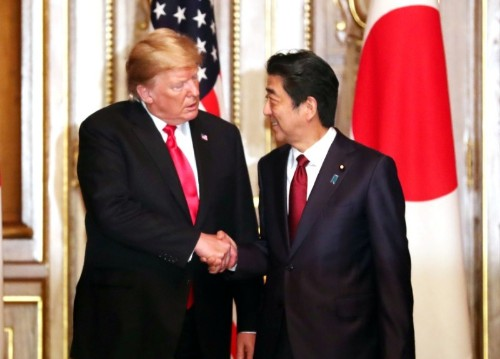 Japan's Abe says Trump supports his intention to meet North Korean leader