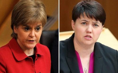 Ruth Davidson challenges Nicola Sturgeon over 'rape clause' row