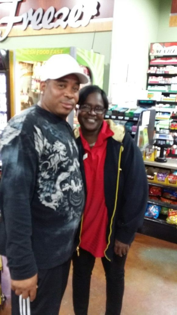 Ricky Fontain with a fan