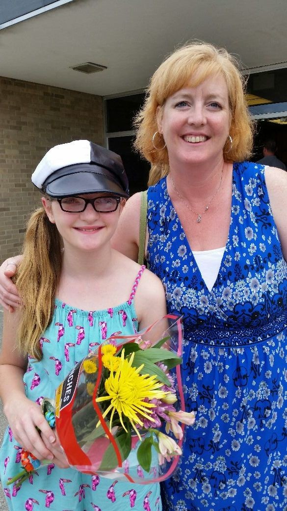 Aunt pam and zoe after the recital