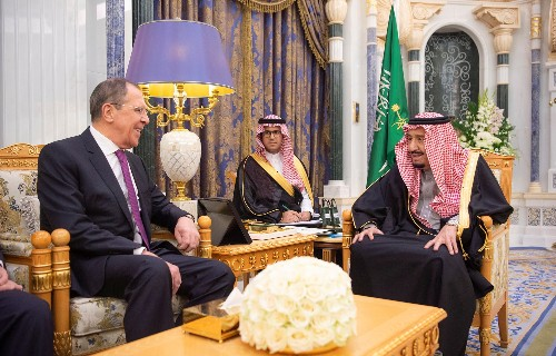 Saudi king meets Russian foreign minister in Riyadh