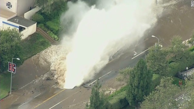 Sunset Boulevard, UCLA flooded