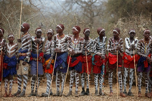 Kenya's Maasai mark rite of passage with elaborate ceremony