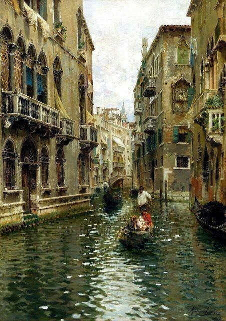 Rubens santoro (1859 -1942 )Venise